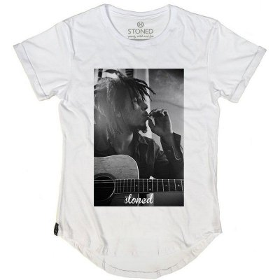 Camiseta Longline Bob Marley Three