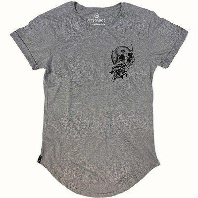 Camiseta Longline Broken Skull