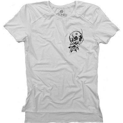Camiseta Longline Gold Broken Skull