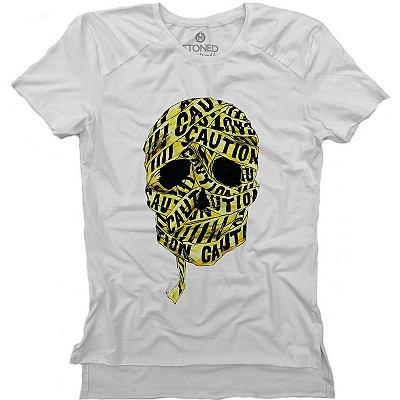 Camiseta Longline Gold Caution
