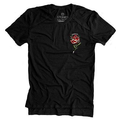 Camiseta Longline Gold Classic Rose