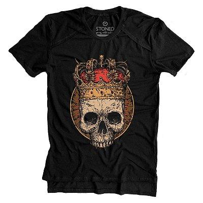 Camiseta Longline Gold King Skull