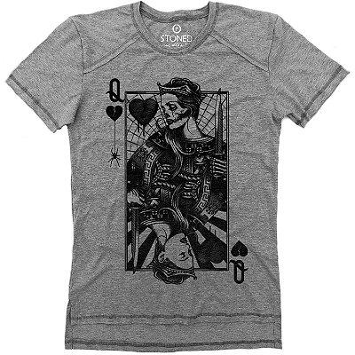Camiseta Longline Gold Sad Queen