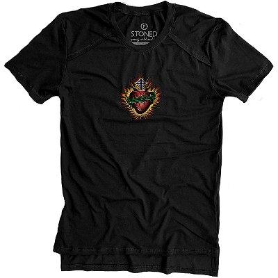 Camiseta Longline Gold Sagrado Corazon