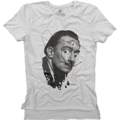 Camiseta Longline Gold Salvador Dali Collage