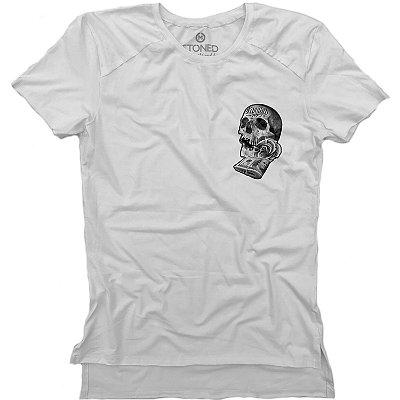 Camiseta Longline Gold Skull Dollar