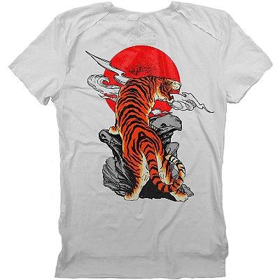 Camiseta Longline Gold Sunset Tiger