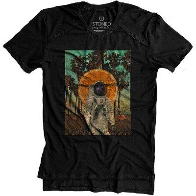 Camiseta Longline Gold Verão no Espaço