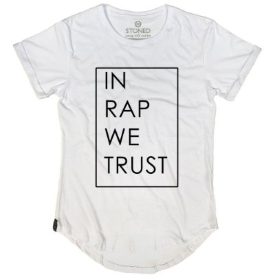 Camiseta Longline In Rap We Trust