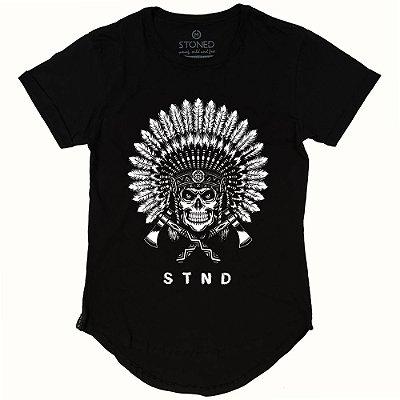 Camiseta Longline Indian Skull