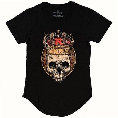 Camiseta Longline King Skull