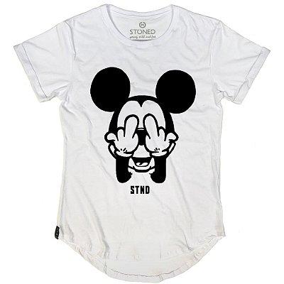 Camiseta Longline Middle Mickey
