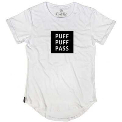 Camiseta Longline Puff, Puff, Pass
