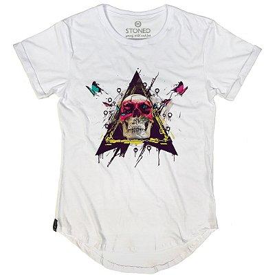 Camiseta Longline Skull Colors