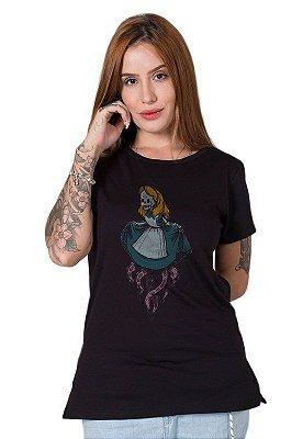 Camiseta Feminina Creepy Alice