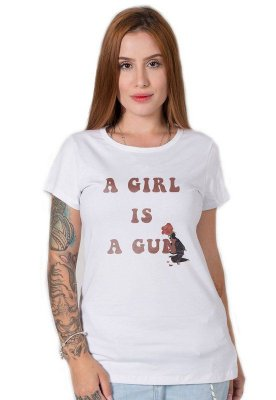 Camiseta Feminina Gun Girl