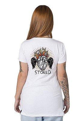 Camiseta Feminina Heart Stoned