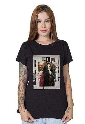 Camiseta Feminina Janis Joplin Abstract