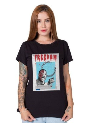 Camiseta Feminina Martin Luther King Collage