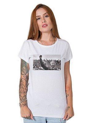 Camiseta Feminina Nelson Mandela