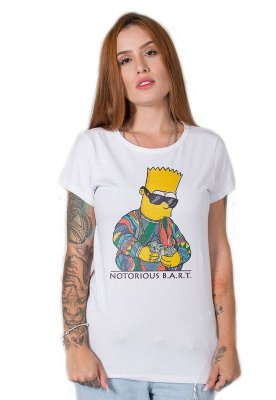 Camiseta Feminina Notorious Bart