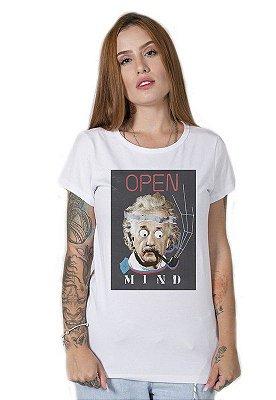 Camiseta Feminina Open Mind Collage