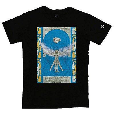Camiseta Confort Homem Vitruviano Collage