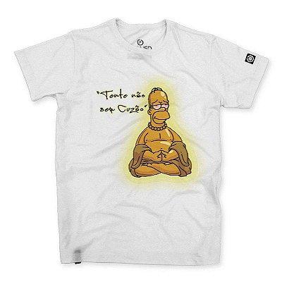 Camiseta Masculina Homer Buda