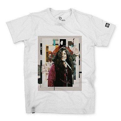 Camiseta Masculina Janis Joplin Abstract