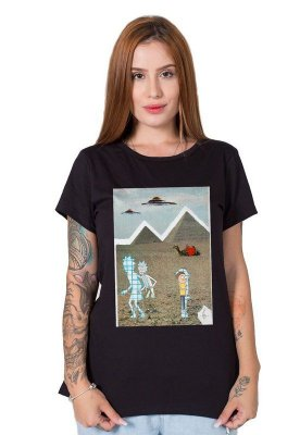 Camiseta Feminina Rick and Morty Collage