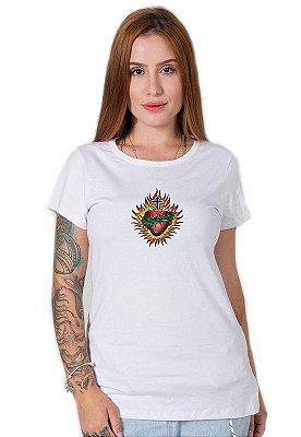 Camiseta Feminina Sagrado Corazon