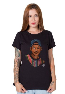 Camiseta Feminina Will Smith Draw