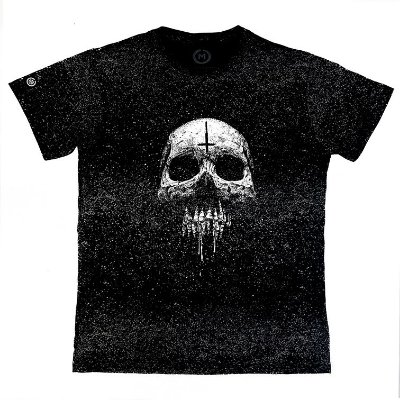 Camiseta Masculina Estonada Melting Skull