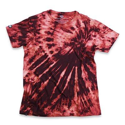 Camiseta Tie Dye Bordô
