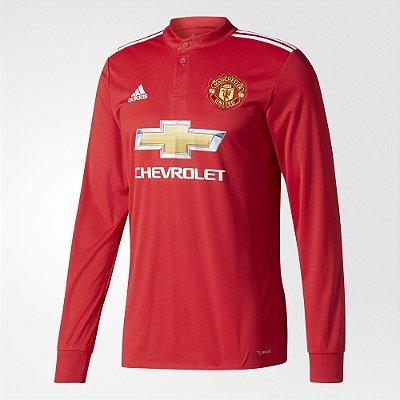 Camisa Adidas Manchester United Manga Longa