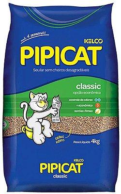 Areia para Gato Pipicat Classic Kelco 4kg