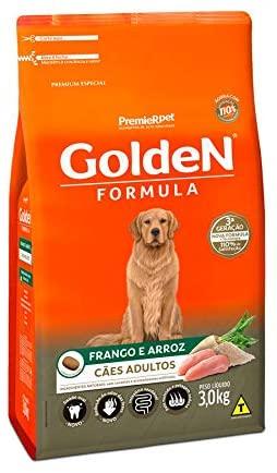Ração Golden Fórmula para Cães Adultos Frango e Arroz 3Kg