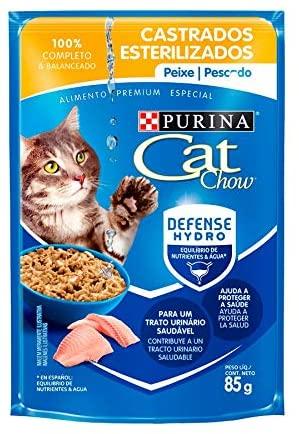 Cat Chow Wet Sache Castrados Peixe Ao Molho 85G