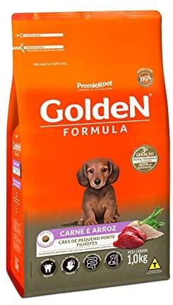 Ração Golden Formula Cães Filhotes Raças Pequenas Carne e Arroz 1Kg