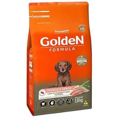 Ração para Cachorro Filhote Raças Pequenas Golden Fórmula Frango e Arroz 1Kg