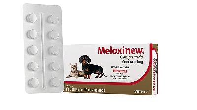 Anti-Inflamatório Meloxinew Vetnil  1mg 10 comprimidos