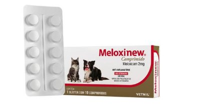 Anti-Inflamatório Meloxinew Vetnil  2mg 10 comprimidos