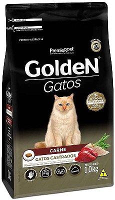 Ração Golden Gatos Castrados Carne 1 Kg