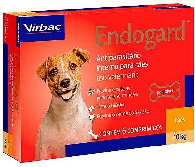 Vermifugo Endogard Cães 10kg 6 comprimidos Virbac