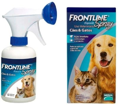 Frontline Spray 250ml Merial Antipulgas Carrapatos Cães Gatos