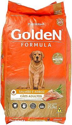 Ração para Cães Adultos Golden Fórmula Salmão e Arroz 15 Kg