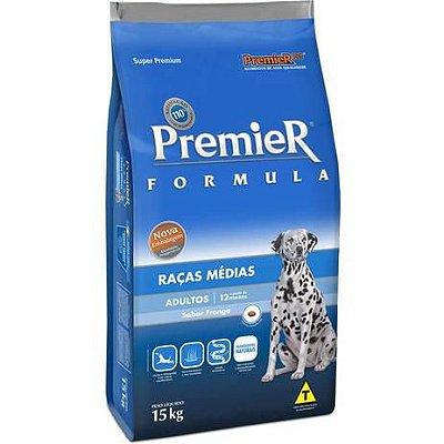Ração Premier Formula Cães Adultos Raças Médias Sabor Frango 15Kg