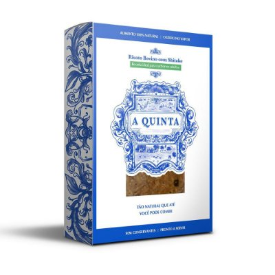A QUINTA -  Risoto Bovino com Shitake Caixa de 1Kg