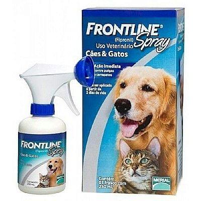 Antipulgas e Carrapatos Frontline Spray para Cães e Gatos - 100ml