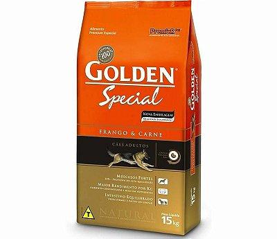 Ração para Cães Adultos Golden Fórmula Special Frango e Carne